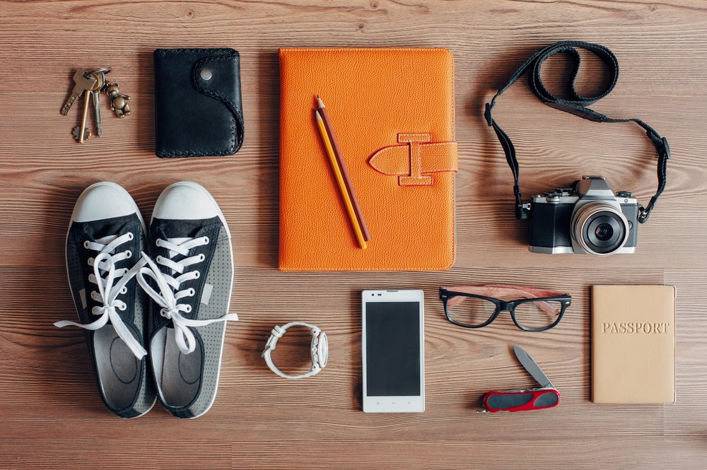 Travelling accessories Shutterstock_243084559